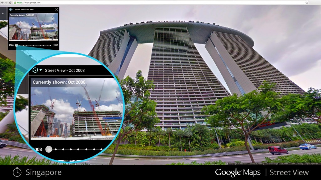 Google Maps with Time Machine