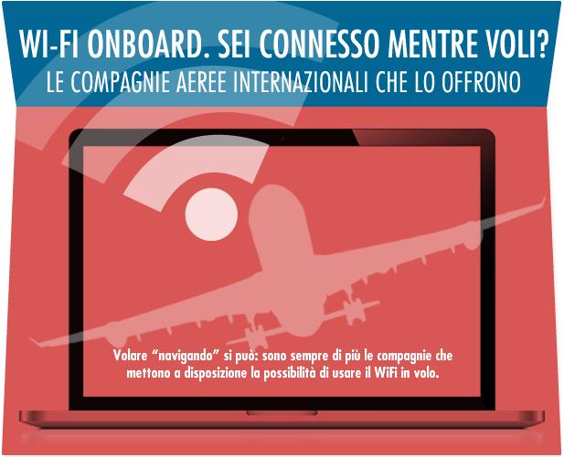 Connessione ad internet wi-fi durante i voli aerei