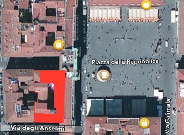 Apple Store Piazza della Repubblica - Firenze - Ipotizziamo la superficie