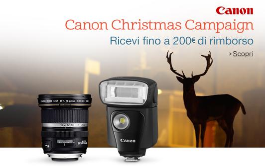Canon Christmas Campaign - Rimborsi da 30 a 200€
