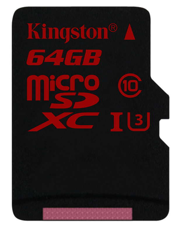 Kingston microSDCX UHS-I speed class 3 da 80MB/s in scrittura