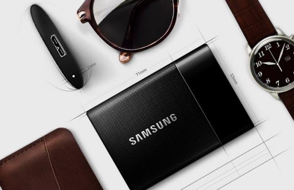 Samsung SSD T1 - Portable SSD Drive piccolo come un biglietto da visita