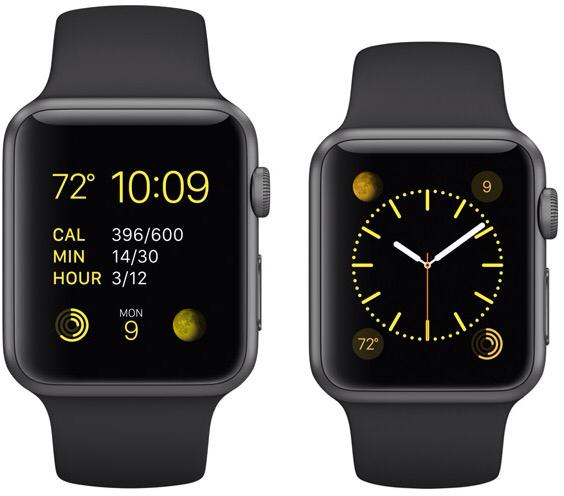 Apple Watch grigio siderale con cinturino Sport Nero