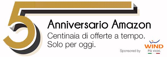 Amazon.it - Sconti per festeggiare il 5° anniversario