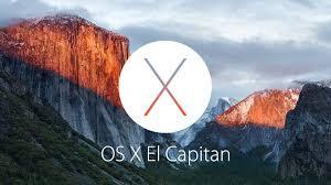 OS X El Capitain 10.11