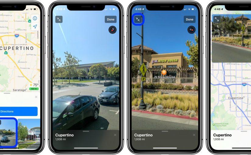 Debuttano negli Stati Uniti nuove mappe Apple con funzione Look Around interattiva