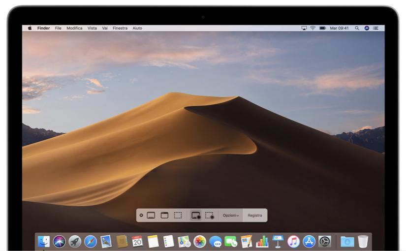 Come registrare lo schermo del Mac su Mojave