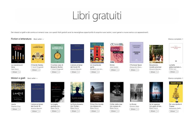 Titoli gratuiti sul Book Store di Apple