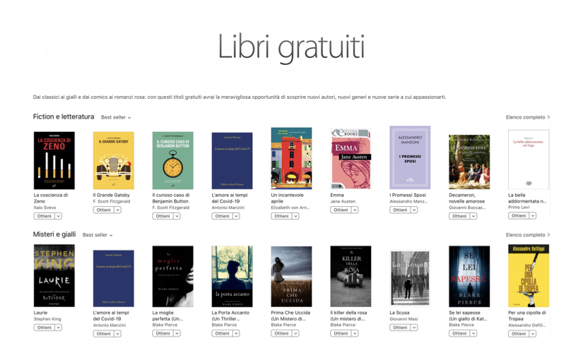 Libri gratis su iBook Store