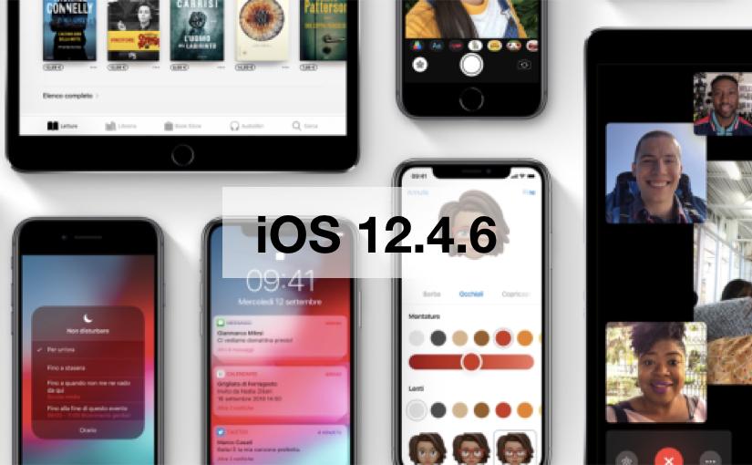 Aggiornamento iOS 12.4.6
