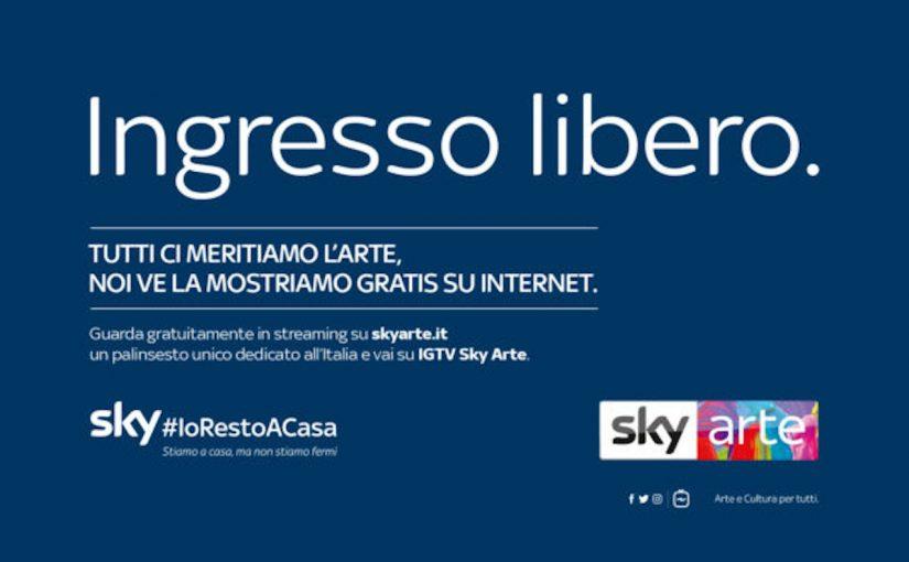Sky Arte, streaming gratuiti dal 25 marzo