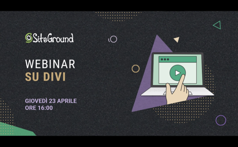 Webinar su Divi, potente page builder per WordPress