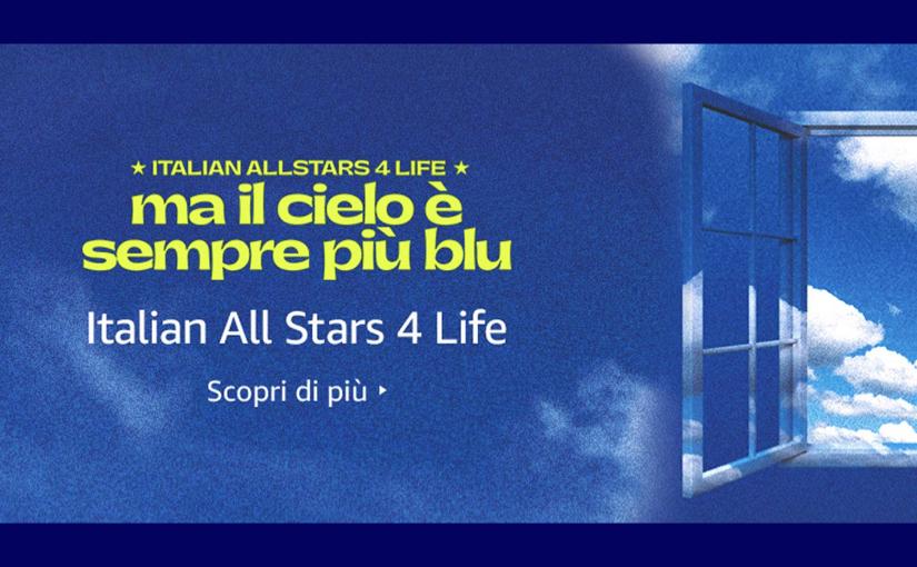 Ma il cielo è sempre più blu, Amazon e gli artisti italiani per la Croce Rossa
