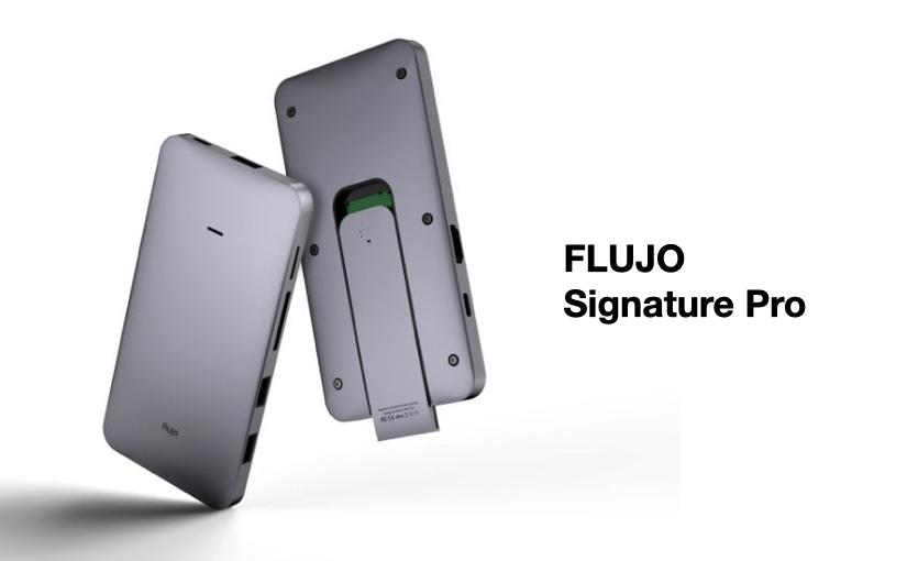 Flujo Signature Pro, HUB-USB-C con slot per memorie SSD M.2 NVMe