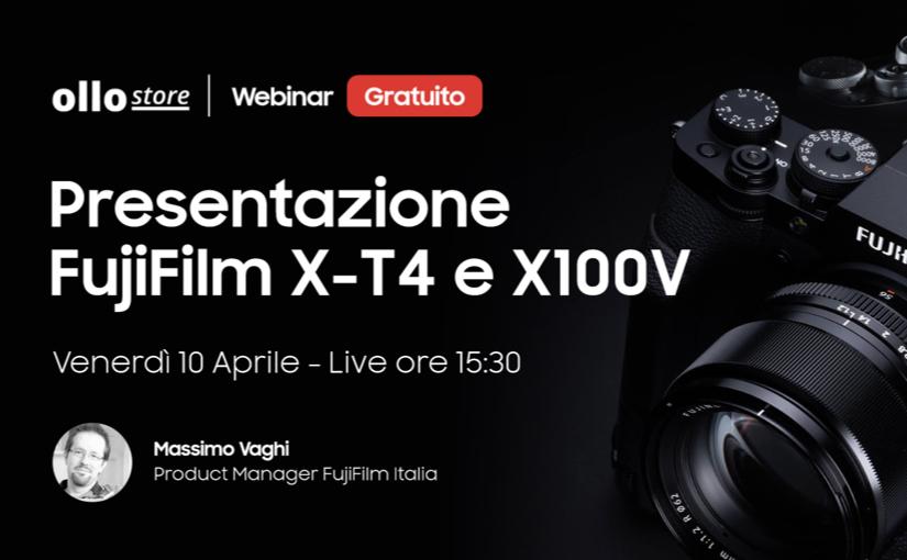 Presentazione Live delle fotocamere Fujifilm X-T4 e X100V