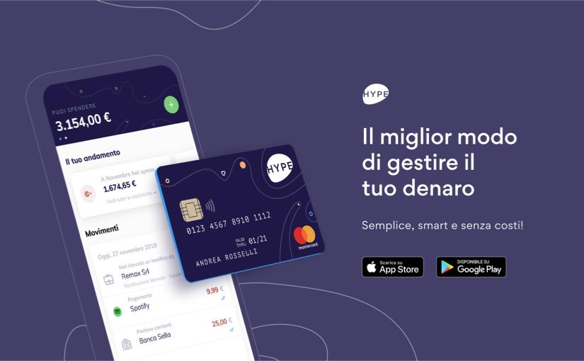 Fino a 25€ per voi registrandovi ad Hype, carta ricaricabile gratuita