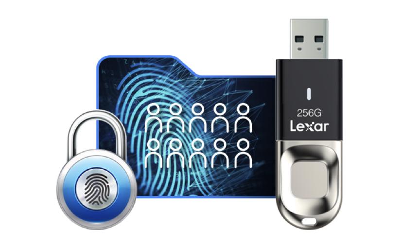Unità Flash Lexar JumpDrive Fingerprint F35 USB 3.0