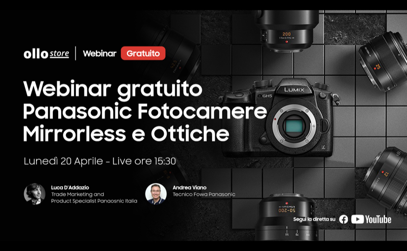 Webinar live su mirrorless e ottiche Panasonic