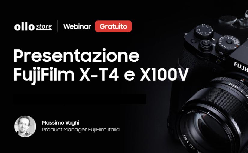 Presentazione delle fotocamere Fujifilm X-T4 e X100V