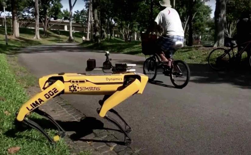 Un robot a 4 zampe per il controllo del distanziamento tra i visitatori dei parchi