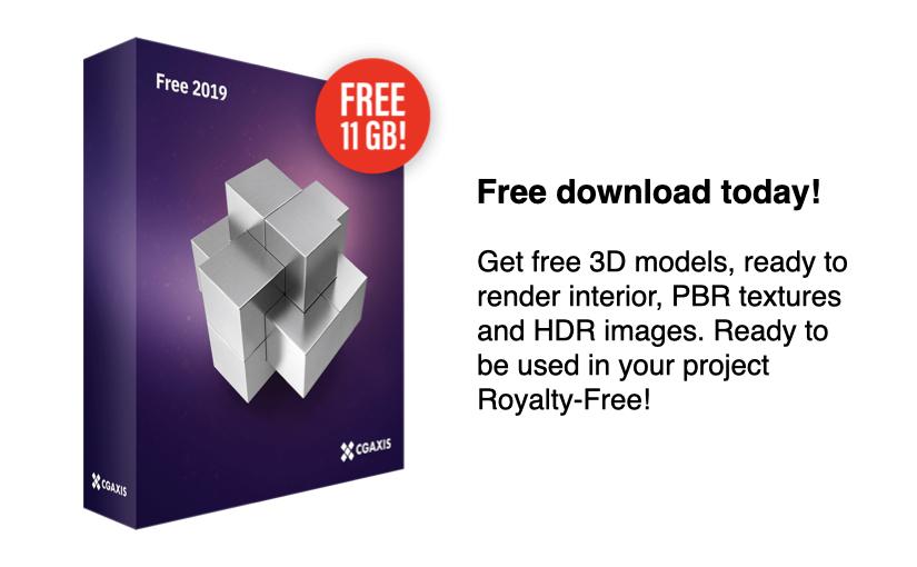 11GB di risorse gratuite tra modelli 3D e altro da 3GAXIS