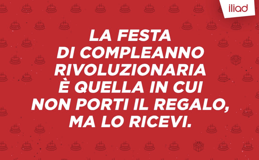 Iliad Italia festeggia 2 anni con un concorso dal premio ambito