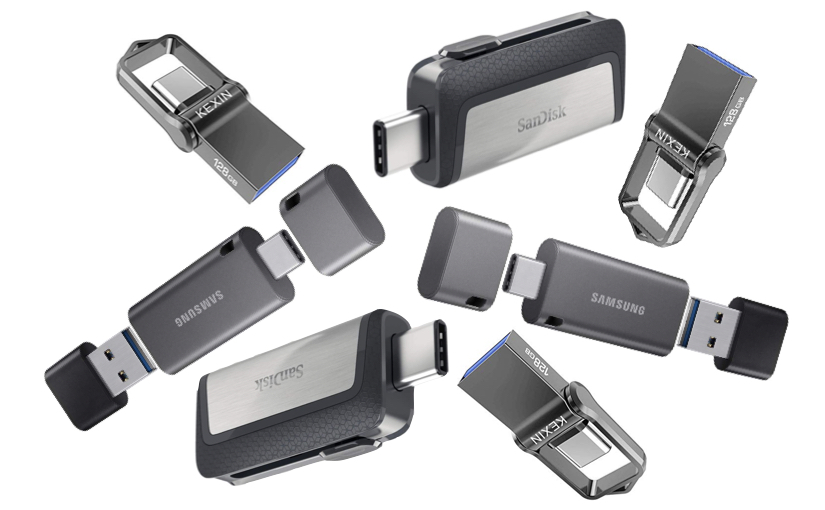 Dual USB memory keys