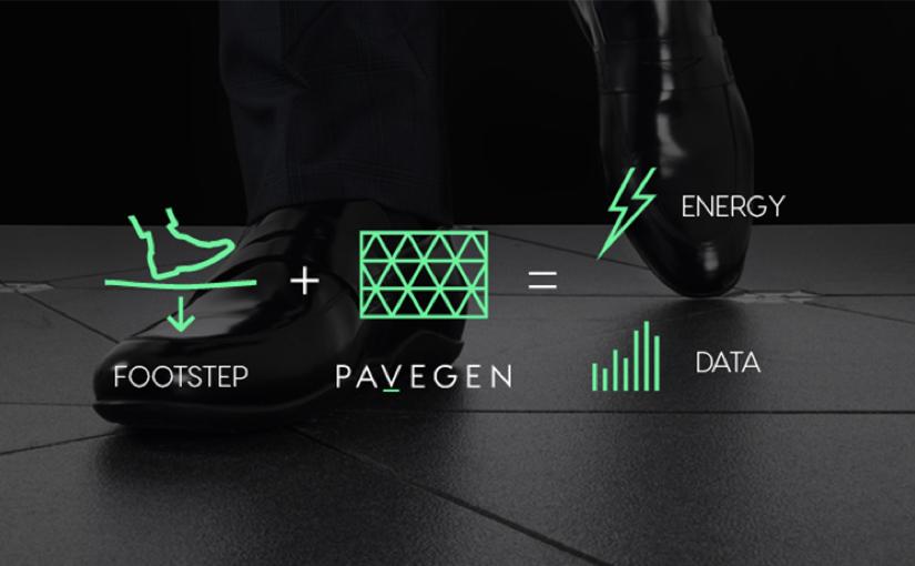 Pavegen, da energia cinetica ad elettricità, un passo alla volta