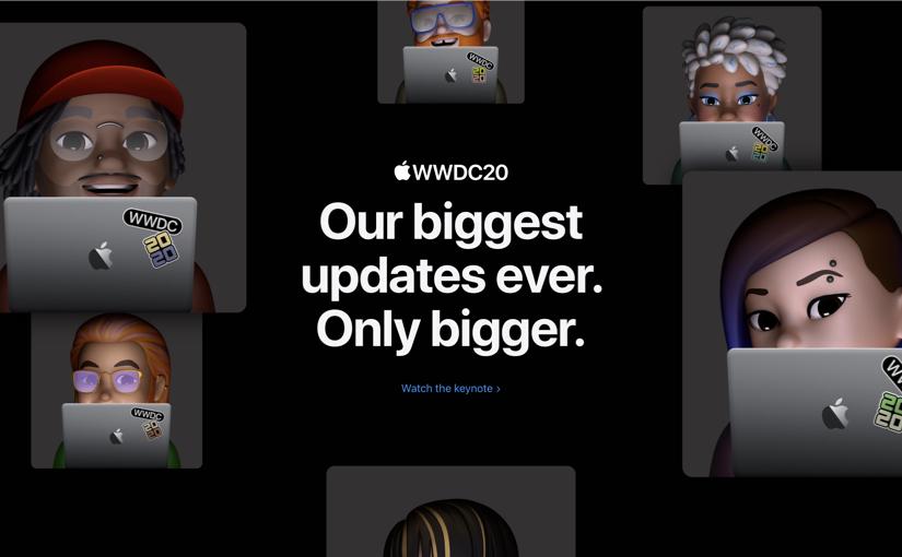 Tutte le novità annunciate nel Keynote di apertura della WWDC20