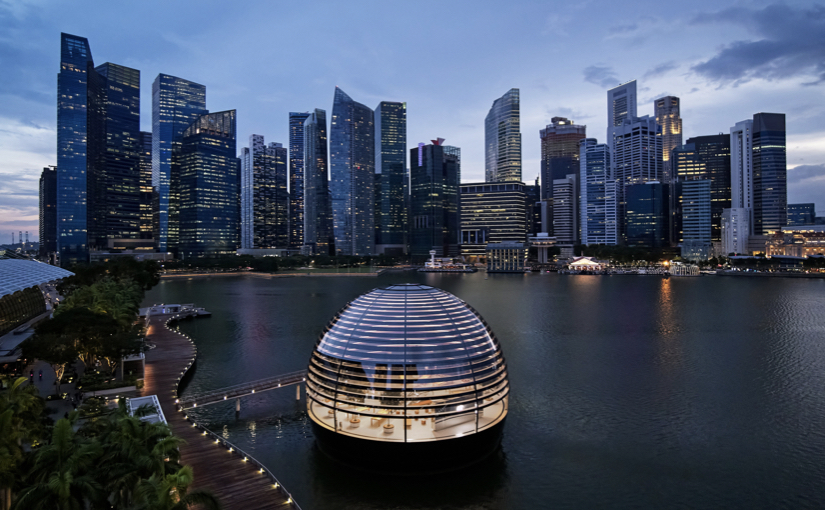 Apple presenta il sorprendente Apple Store Marina Bay Sands di Singapore
