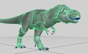 Modelli 3D, dinosauro