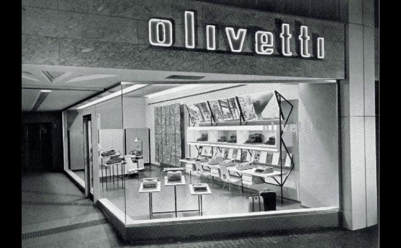 Uno store sulla 5th Avenue targato Olivetti, antesignano degli Apple Store