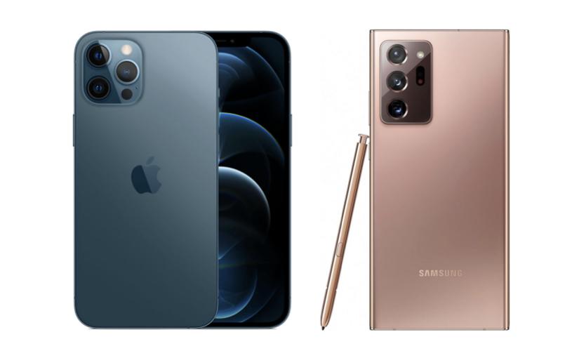 iPhone 12 Pro contro Samsung Note 20, chi vincerà ?