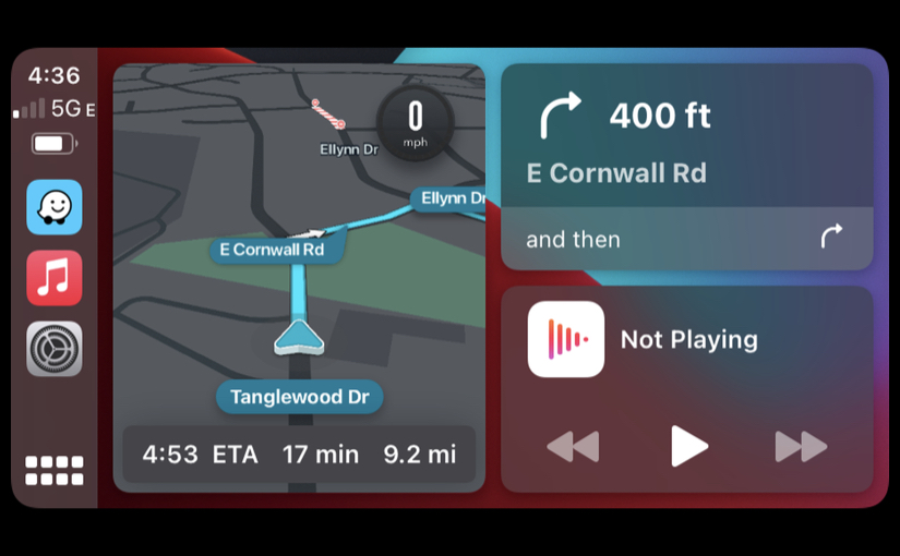 Waze nella Dashboard di CarPlay
