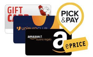 Carte prepagate e Pick&Pay
