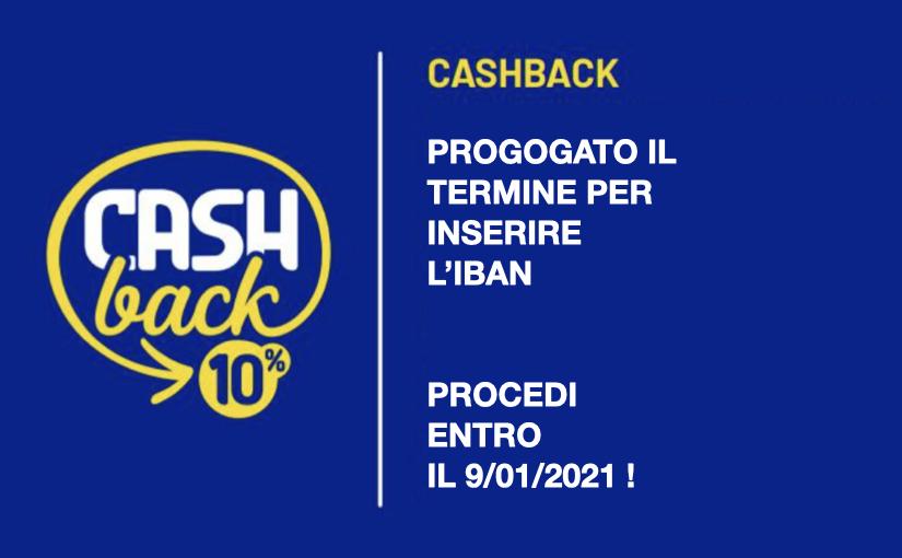 Spostato al 9/1 il termine per inserire l'IBAN | Cashback di Stato