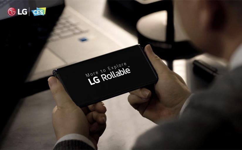 LG Rollable, il prototipo dello smartphone con schermo estensibile