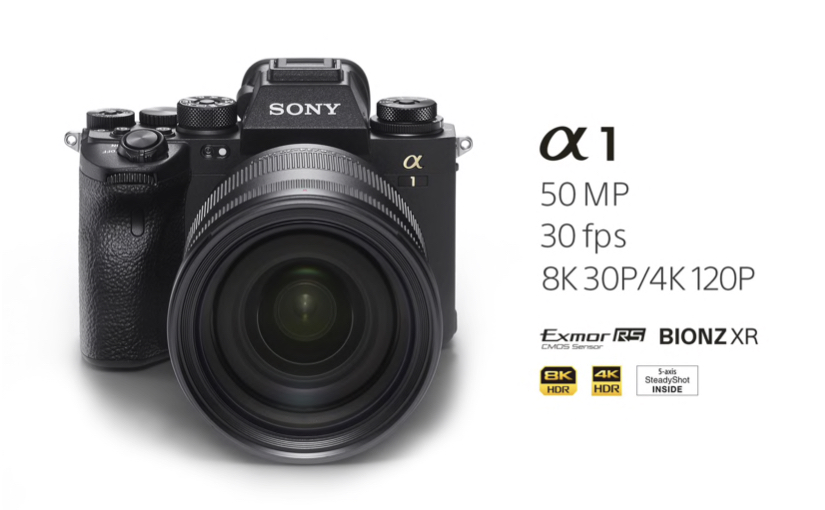 Sony presenta la Alpha 1, 50 megapixel a 30 fps e video 8K