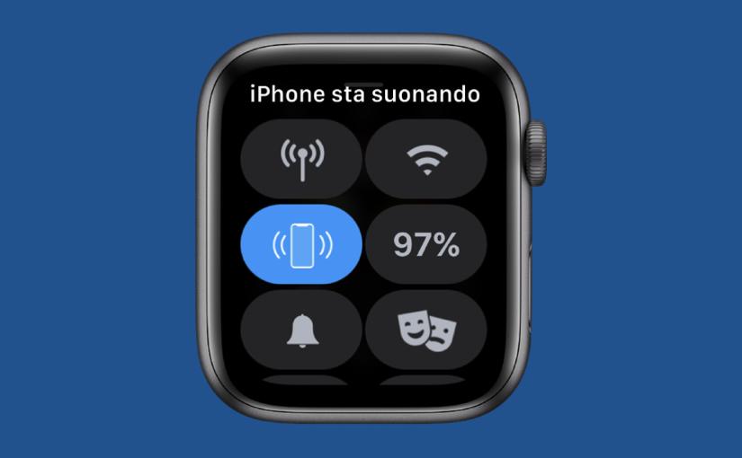 Cercare l'iPhone grazie all'Apple Watch