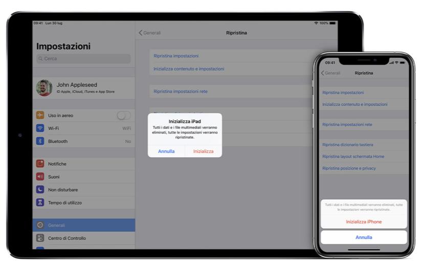 Cosa fare prima di vendere/cedere il tuo iPhone, iPad o iPod touch