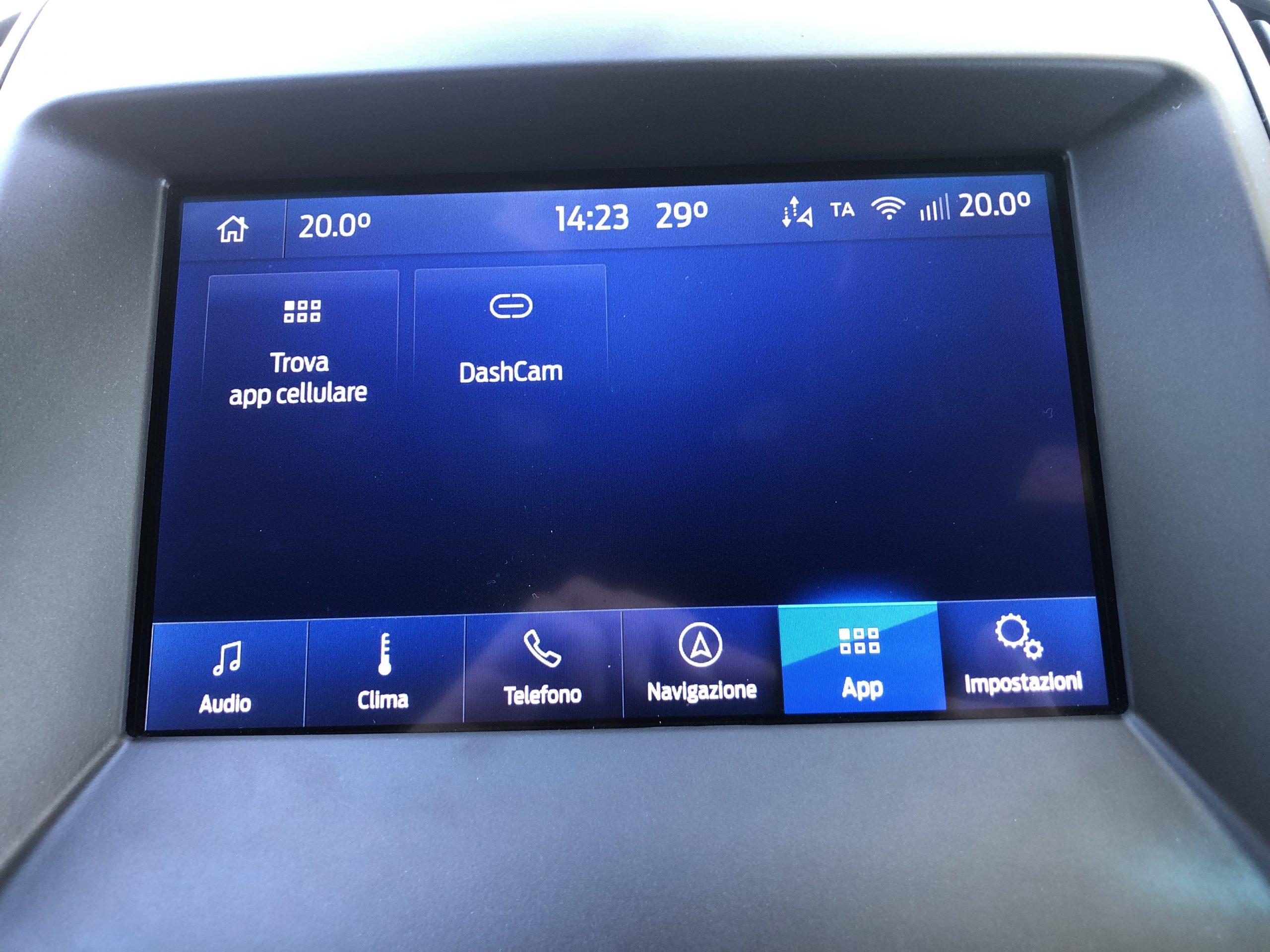Ford Sync 3.4 - Applicazione Dashcam