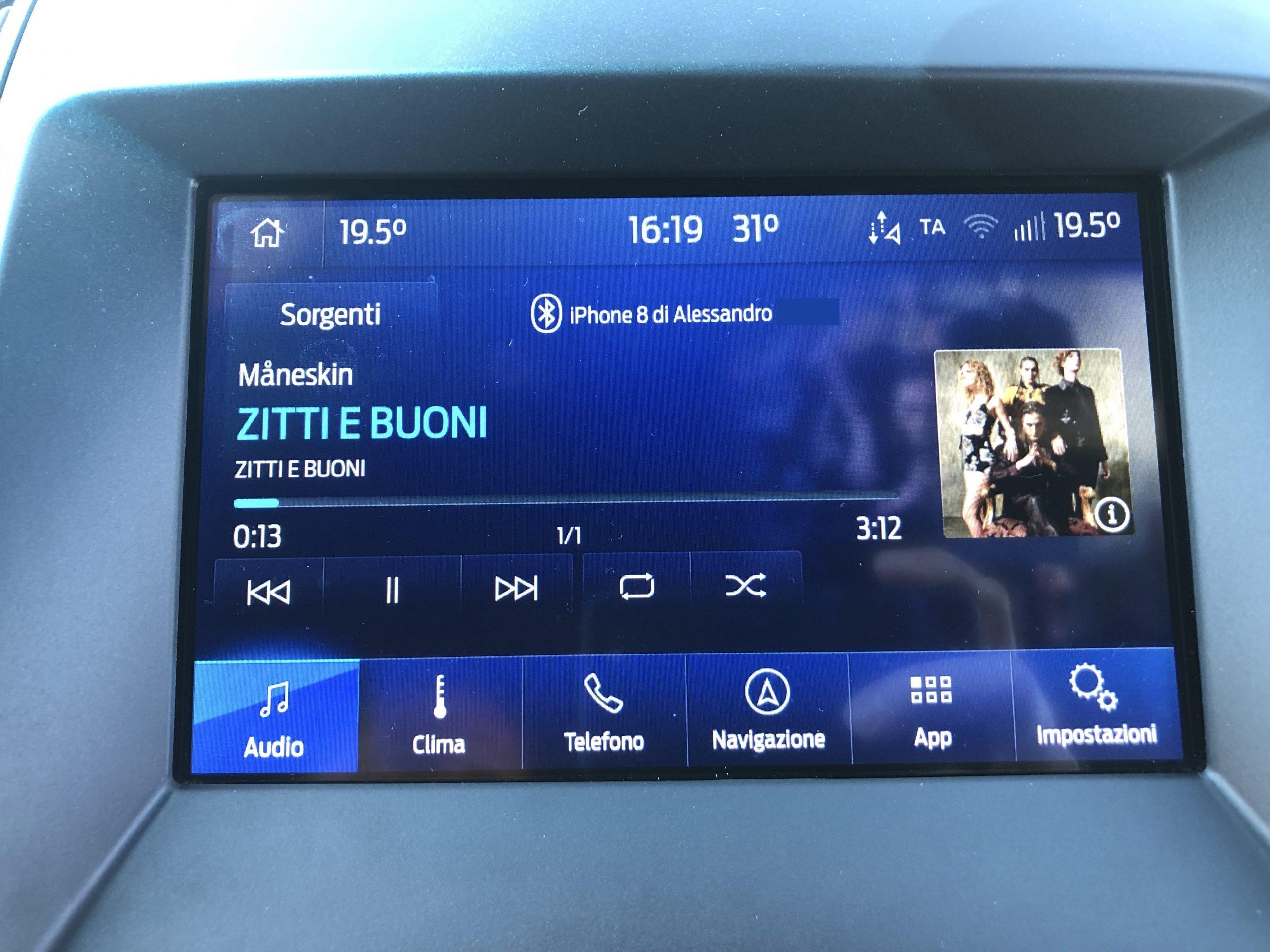 Ford Sync 3.4 - Musica con copertina