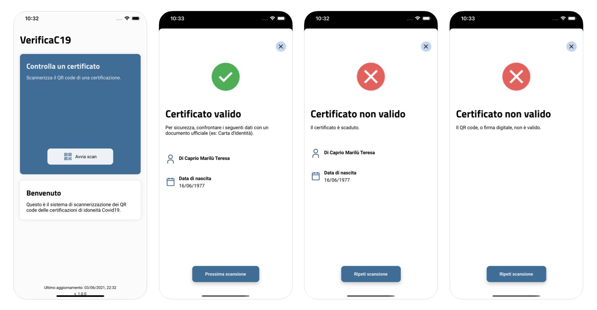 VerificaC19, l'app per verificare la validità del Green-pass