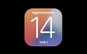 Aggiornamento iOS e iPadOS 14.8.1