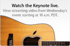 Evento musicale Apple del 1° settembre - Streaming video live