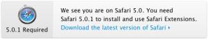Safari 5.0.1 Extension Gallery